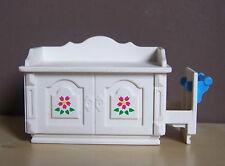 PLAYMOBIL (J208) EPOQUE 1900 - Table à Langer Blanche Motifs Fleurs 5313