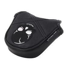 Black Golf Mallet Putter Head Cover Heel Shaft Putter Headcover Protector New