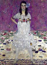 Portrait of a Girl 30x44 Art Deco Print by Gustav Klimt Hand Numbered Ltd. Editi