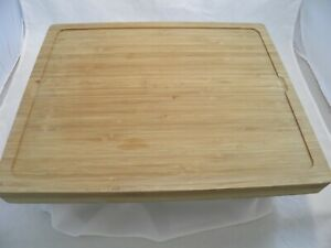 Bamboo Wooden Cutting Board with Tray and Cutting Place Mats Nice