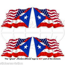USA United States America-PUERTO RICO Flying Flag Puerto Rican 50mm Stickers x4