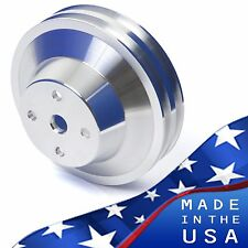 Big Block Chevy Water Pump Pulley 2 Groove 396 427 454 Lwp Bbc 2v Lwp Aluminum
