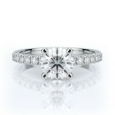 1 1/4 CTW runden Schneiden D VS2 Diamant Verlobungsring 14K Weißgold Zertifikat