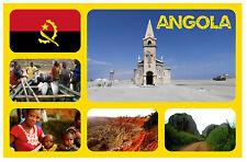 ANGOLA - S / AFRICA - SOUVENIR NOVELTY FRIDGE MAGNET - FLAGS / SIGHTS - NEW/GIFT