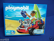 PLAYMOBIL 4863 BEACH BUGGY ATV with SURFER FIGURE and Board new , 4-10
