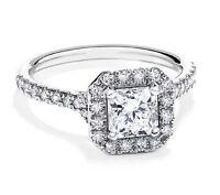 VVS1/D 1.50 Ct Brilliant Cut Diamond Engagement Ring 14kt  White Gold Size M 300
