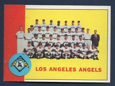 1963 Topps #39 Los Angeles Angels Team Card NM Centered
