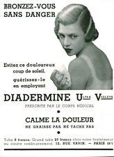 Publicité ancienne crème Diadermine 1933