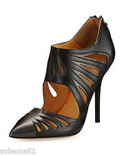 L.A.M.B. Kegan Cutout Black Leather Pump Heels Size 7 ? Msrp  $325.00