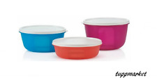 TUPPERWARE Space Saver Bowl x 3 Fridge Bowl Watertight colors SPECIAL OFFER