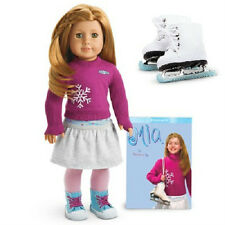 American Girl MIA DOLL + Performance SKATES + book FAST Same Day SHIPPING