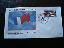 FRANCE - enveloppe 21/12/1990 27e congres du PCF (cy7) french (g)