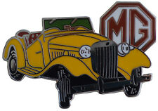 MG TD car cut out lapel pin - Yellow