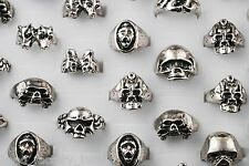 Wholesale jewelry Mixed Lots 5pcs Gothic Design Men's Fashion Mixed Style Rings