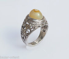 antik orient silberring augen achat  Afghanistan  silver agate ring Nr:39