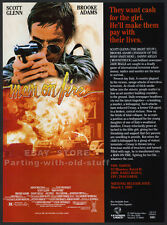 MAN ON FIRE__Original 1989 Trade Print AD movie promo__SCOTT GLENN__BROOKE ADAMS