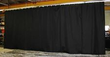 Black Stage Curtain/Backdrop/Partition, 9 H x 40 W, Non-FR