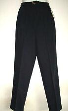 NWT Karen Brooks Black Polyester/ Rayon Belted Dress Pant Sz 6