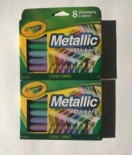 Crayola Metallic Markers 8 ea (Pack of 2)