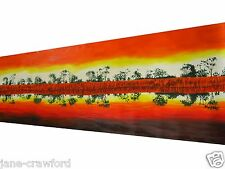 "150cm by 50cm  ""A Murray River Reflection"" Australian Landscape art painting"