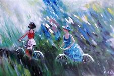 PAINTING by ADA - PASSEGGIATA - 20 x 30 cm. - dipinto quadro acrilico
