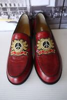 Right Bank Shoe Co.Crocodile Peace Crest  Loafers shoes US 6.5-7 M  Gorgeous