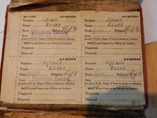 More details for leslie george beint paybook ww2 from chippenham household cavalry poor condition