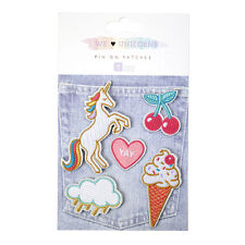 We Love Unicorns Pin on Patches Unicorn Patch Badge Motif Unicorn Gift Clothes