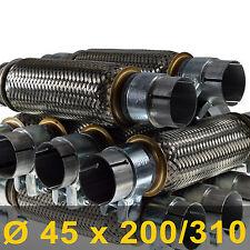 *Auspuff Flexrohr Ø 45 x 200/310 Länge (mm) zum Schrauben Fahrzeuge