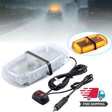 Amber 24 LED Beacon Strobe Light Emergency Flashing Magnetic Warning Truck Lamp
