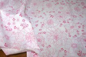 1m x 1.38m width 'ELLE FLORAL' 100% COTTON Lawn Fabric, Light Weight