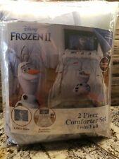 Disney Frozen II Kids 2pc Reversible Comforter & Sham Set Olaf's Journey