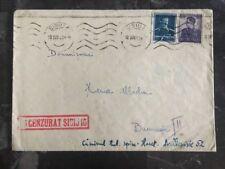 1943 Sibiu Censored Cover To Bucarest Romania