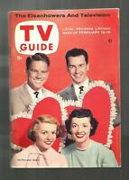 TV GUIDE-2/1955-YOUR HIT PARADE-TENNESSEE ERNIE FORD-GROUCHO MARX-EISENHOWER-NML