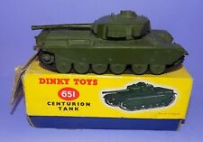 *  1954 - 1970 * DINKY TOYS * NO 651 * CENTURION TANK * IN ORIGINAL BOX  *