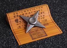 Cartoon Spin Shuriken Four-Arm Ninja Spinner Naruto Fidget Toy Metal EDC Spin