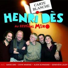 23891 // CARTE BLANCHE A HENRI DES AU FESTIVAL MINO CD NEUF SOUS BLISTER