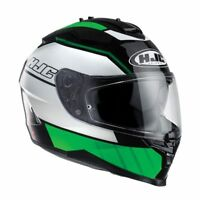 HJC IS-17 Tridents Green / Black / White Full Face Motorcycle Helmet Small
