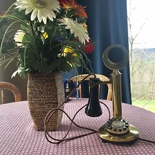 Candlestick Phone Vintage Upright Telephone Antique Retro Rotary Modern Version