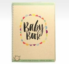 RHICREATIVE Baby Record Book Journal Keepsake Photo Album Scrapbook Firsts +More