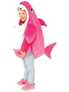 Mommy Shark Deluxe Pink Baby Shark Pinkfong Child Girls Costume With Sound S