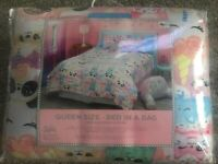 Justice Girls Sweet Treat 7-Piece Bed In A Bag!  Complete Set! NWT