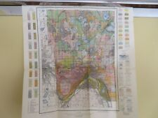 "1914 Antique Map Iowa Webster County Fort Dodge Badger Moorland 31 X 34"" #8863"