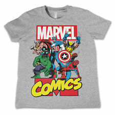 Marvel Graphic 100% Cotton Short Sleeve Boys' T-Shirts & Tops (2-16 Years)