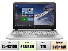 """HP 15t 15.6"""" HD laptop Intel Core i5-4210U 6GB 1TB Webcam DVDRW HDMI Windows 10"""