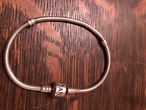 Pre-owned Pandora .925 silver bracelet without charms or box