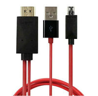 2M MHL Micro USB to HDMI 1080P HD TV Cable Adapter for Universal Android Phones