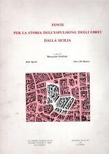 FONTI PER LA STORIA DELL'ESPULSIONE DEGLI EBREI DALLA SICILIA GIUFFRIDA (QA939)