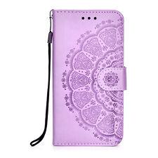 For Motorola Moto E7 G Power Case Mandala Flip Leather Wallet Card Holder Cover