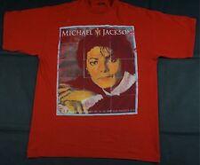 Rare Vintage NOIZ Michael Jackson Memorial T Shirt RIP MJ King Of Pop Red SZ 2XL